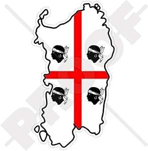 Amazon.com: SARDINIA Sardinian Map-Flag ITALY Sardegna Italian 4.3