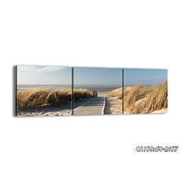 Bild auf Leinwand - Leinwandbilder - drei Teile - Breite: 150cm, Höhe: 50cm - Bildnummer 2657 - dreiteilig - mehrteilig - zum Aufhängen bereit - Bilder - Kunstdruck - CA150x50-2657