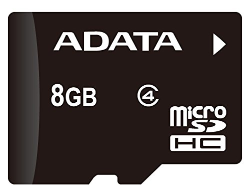 ADATA 8GB microSDHC Class 4 Memory Card with Adapter (AUSDH8GCL4-RA1) (Micro Sd Adata compare prices)