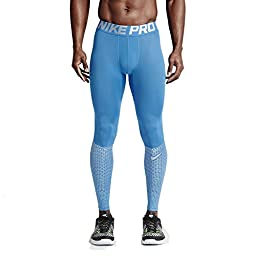 Nike Men\'s Pro Hypercool Max Training Tights-Light Italy Blue-Medium