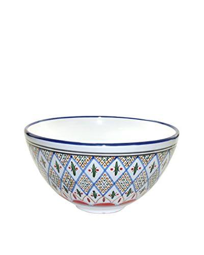 Le Souk Ceramique Tabarka Deep Salad Bowl, Multi