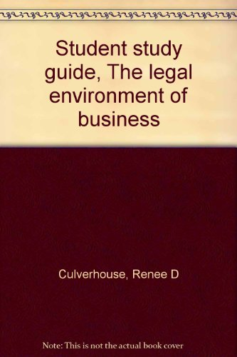 legal environment of business study guide