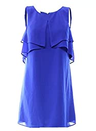 Jessica Simpson Sleeveless Popover Chiffon Shift