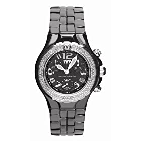 TechnoMarine Women&#39;s MoonSun Diamond Ceramic Chrono Watch #DTCB02C