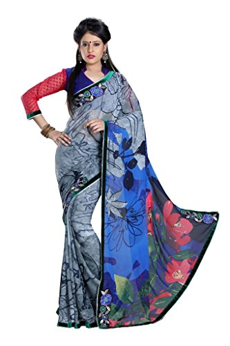 Yashoda Textile Multi Color Chiffon Printed And Border Work Sarees With Un-Stitched Blouse Piece (Y.S_686_Multi)