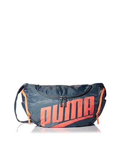 PUMA Men's Form Duffel Bag, Grey/Red