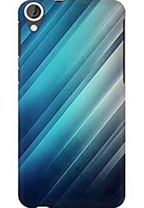 AMEZ designer printed 3d premium high quality back case cover for HTC Desire 820 (abstract blue shades)
