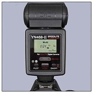 YN-468 II TTL Shoe Mount Flash Speedlite Speedlight for Canon 60D 50D 40D 30D 500D/T1i, 450D/Xsi, 400D/Xti, 350D, 550D, 1000D By Sanlise