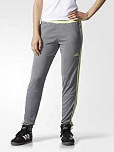 Adidas Women's Tiro 15 Training Soccer Pants, Vista Grey/Frozen Yellow, Large