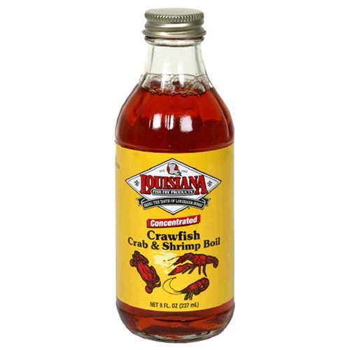 Louisiana Fish Fry Products Liquid Crawfish, Crab and Shrimp Boil, 8-Ounce Bottles (Pack of 12)