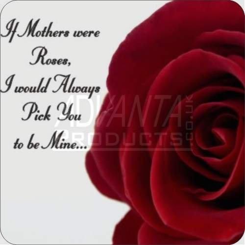 Roses-Mum Sentiment Leather Coaster Christmas