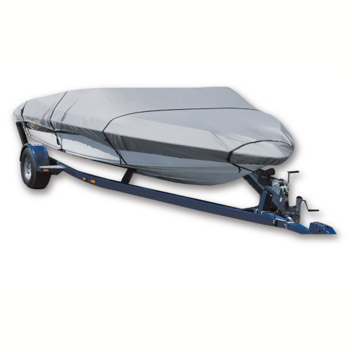 Leader Accessories New 300d Gray Polyester Trailerable Boat Cover Fits Fish Ski Pro-style Bass Boats 16' -18.5' Long Beam Width up to 94''