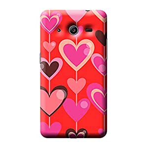 Garmor Heart Shape Design Plastic Back Cover For Samsung Galaxy Core II SM-G355H (Heart Shape - 7)