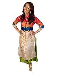RadadiyaTRD Women's Cotton Kurti (Huma Qureshi Kurti_Free Size Multicolor)