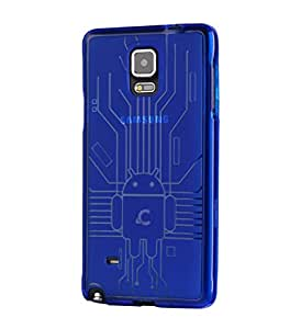 Cruzerlite USA Bugdroid Circuit Design Slim TPU Case for Samsung Galaxy Note 4 -Blue