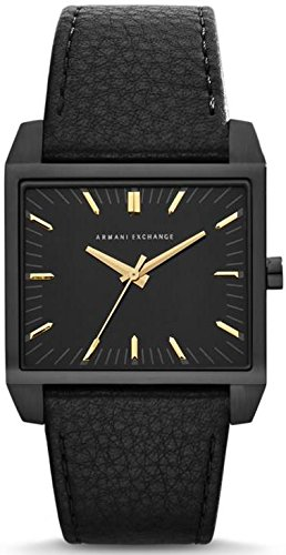 Armani Exchange Men's Tenno AX2217 Black Leather Quartz Watch