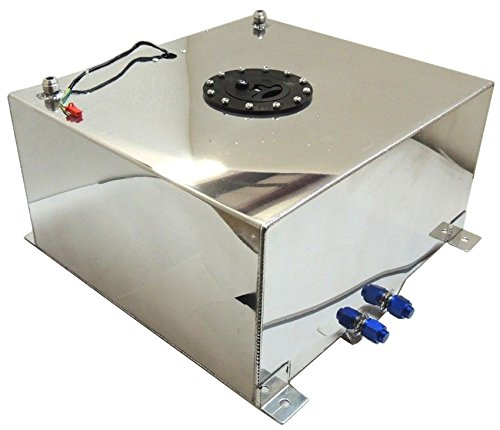 New Polished Aluminum 20 Gallon OEM Fuel Cell / Tank W/ Sender Hot Rod Rat Rod V8 (Fuel Cell compare prices)