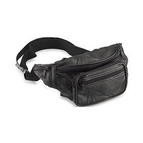 Maxam Italian Stone Design Genuine Lambskin Leather Belt Bag