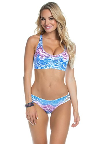 Becca by Rebecca Virtue Women's Racerback Bikini Top (D+ Cup) Water L E-Cup (Everything But Water Swimsuits compare prices)