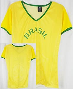 Buy Brasil Ladies Dri Fit Polyester Soccer Style Jersey Shirt by DRAKO INC