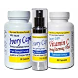 Skin Whitening Lightening System 1, IvoryCaps , Ivory caps , Skin Whitening Pills , Skin Lightening Cream , Vitamin C 100% Natural , No Side Affectsby IvoryCaps