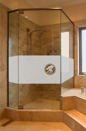 Aufkleber Glasdekor Sichtschutz GD35 ca. 50cm x 80cm BAD Badezimmer Dusche Duschtür Sichtschutzfolie