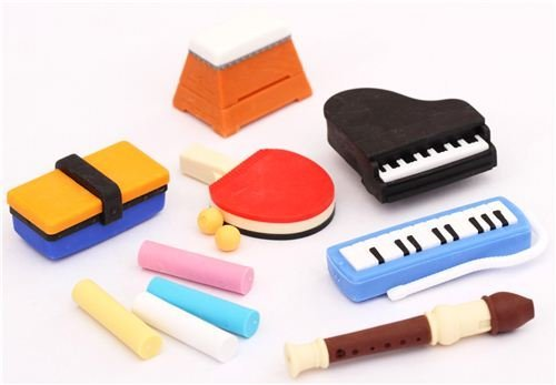 Iwako erasers school supplies set 12 pieces sports music - 1