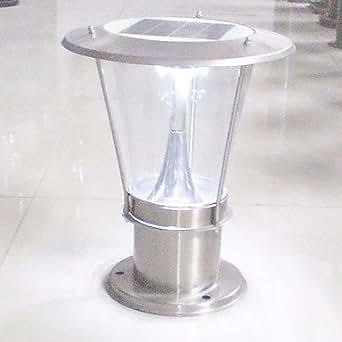 Moderne en acier inoxydable rechargeable led solaire for Luminaire exterieur rechargeable