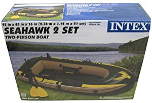 Intex Seahawk Boat Kit 2-Man | 440 lbs, Fast-fill & Deflate, Great for Outdoors