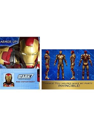 Iron Man 3 Invitations And Thank You Notes W/Envelopes (8Ct Each) front-1071589