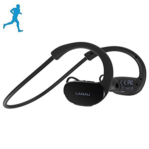 LanAu Bluetooth Headsets,Sport Running Earbuds with Mic,Wireless Stereo Headphones Noise Canceling Sweatproof for iPhone,Samsung,Sony,LG,Motorola