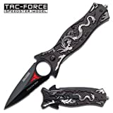 Tac Force TF-707GY Assisted Opening Folding Knife 4.5-Inch Closed