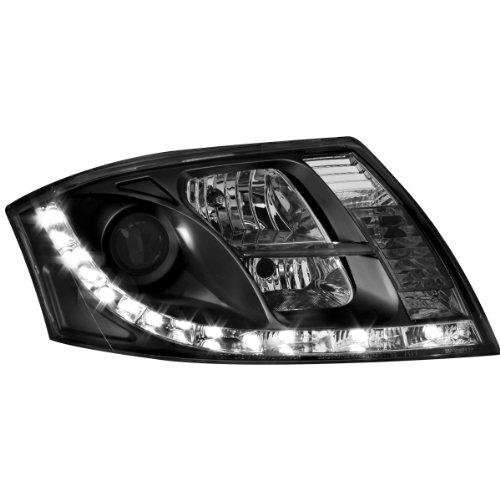 Dectane SWA10GXB Lot de 2 phares Dayline avec feux de circulation diurnes pour Audi TT entre 1999 et 2005 (Noir)