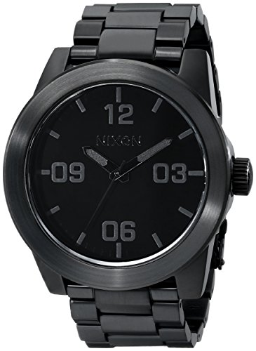 nixon-unisex-the-corporal-ss-all-black-watch-one-size