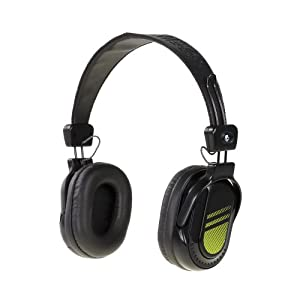 Skullcandy S6DABZ-BG Double Agent Headphones, (Black/Green)