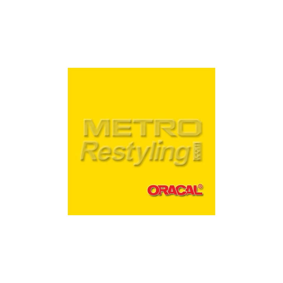Oracal 631 Matte YELLOW Wall Graphic, Craft, Cricut & Sign Vinyl Decal Adhesive Backed Sticker Film 24x12
