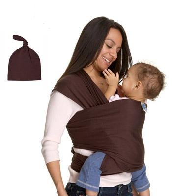 Moby Wrap Baby Carrier With Matching Knot Hat front-1069300