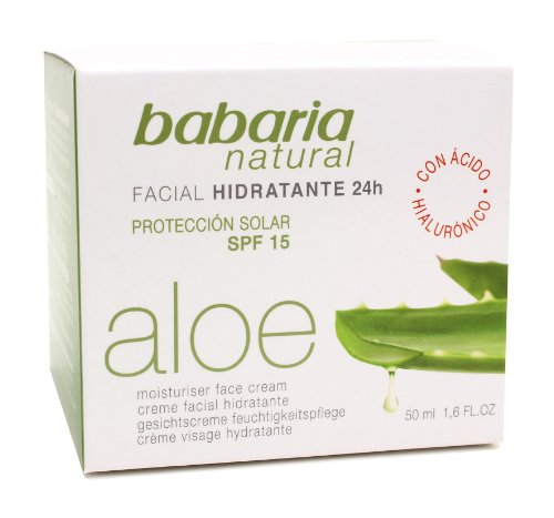 Babaria Natural Aloe Vera 24hr Moisturising Face Cream 50ml