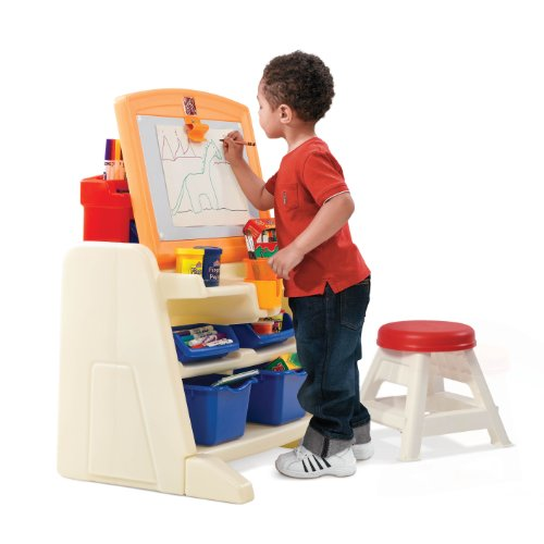 Step2 Flip And Doodle Easel Desk With Stool Epic Kids Toys