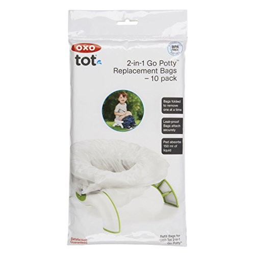 OXO Tot 2-in-1 Go Potty Refill Bags, 10 Count - 1