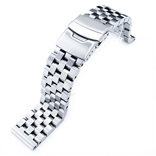 20mm-SUPER-Engineer-Type-II-Solid-Stainless-Steel-Straight-End-Watch-Band-Push-Button