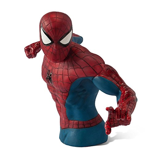 Spider Man Money Bank Marvel Comic Collector Figurine Bust For Superhero Fans 20cm Plastic Picture