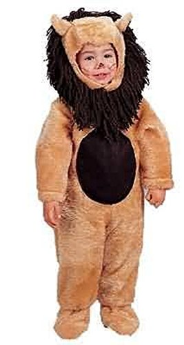 Infant 6-18 Months - Plush Little Lion Costume (Please see details for product inclusions and measurements) - 1