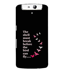 Ebby Premium Printed Mobile Back Case Cover With Full protection For Oppo N1 (Designer Case)