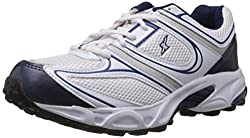 Sparx Mens White and Navy Blue Synthetic Running Shoes - 9 UK (SM-118)