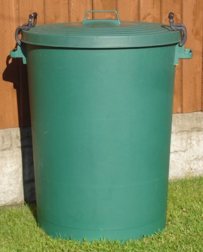 110 Litre Green Bin/Refuse Bin With Lockable Lid (made in the uk)