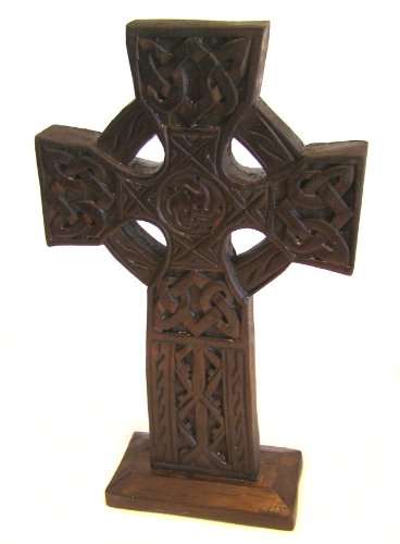 Celtic Cross, Wooden ornament, Fair Trade 28cm