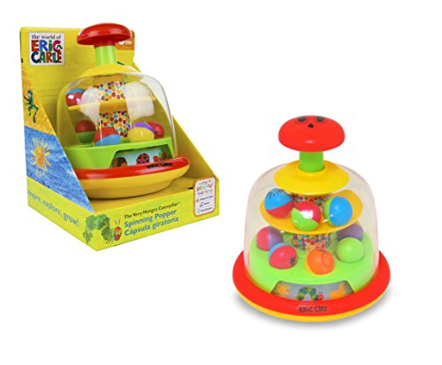 World of Eric Carle, The Very Hungry Caterpillar Push and Spin Popper Toy by Kids Preferred - 1