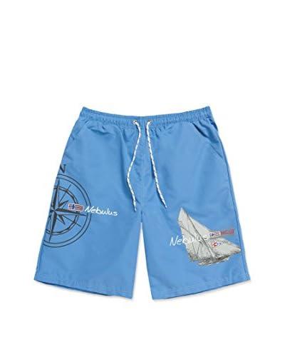 Nebulus Short de Baño Bade Azul