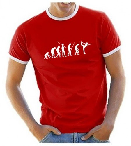 coole-fun-t-shirts-t-shirt-yoga-evolution-mixte-rouge-rot-herren-large